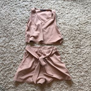 Brown Two Piece Set